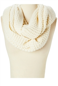 Wholesale Ivory Infinity Loop Scarves Thick Blanket Scarf USA