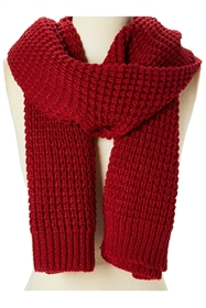 Wholesale Chunky Knit Solid Color Scarf