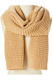 Wholesale Blanket Scarves - Wholesale Chunky Knit Solid Color Scarf