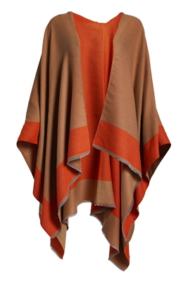 Wholesale Winter Poncho - Reversible
