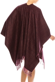 Wholesale Plaid Ponchos