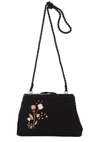wholesale acrylic crochet flower purse