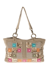 bulk canvas handbag w/ sequins