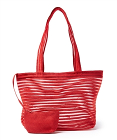 wholesale transparent bags - beach bags bulk - straw tote bag