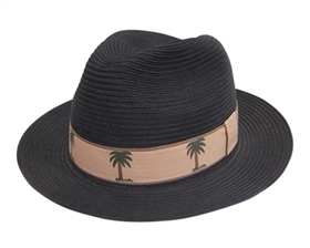 wholesale mens womens black tropical panama fedora