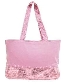 wholesale canvas beach bags with straw