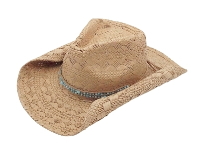wholesale straw cowgirl hats beads