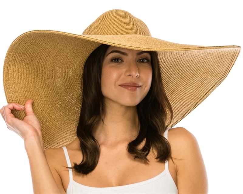 Wholesale Extra Wide Brim Sun Hats - 8 inch brim straw hats ae88dc580342