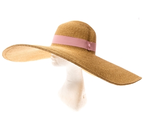 extra wide brim natural sun hat with hand