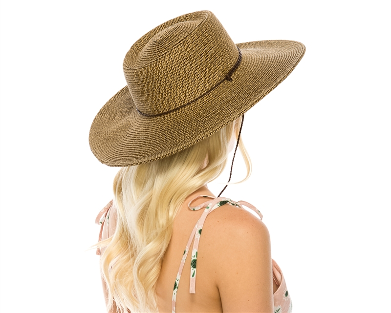 987fae2502d52 Wholesale UPF 50 Wide Brim Tweed Straw Sun Hats - Buckaroo Hat with ...