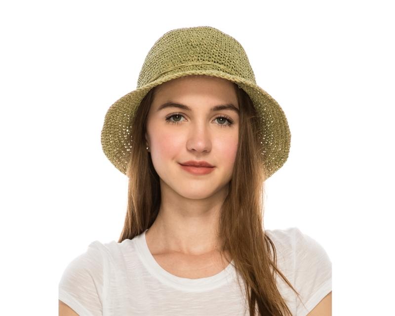 Wholesale Summer Hats - Crochet Straw Bucket Hats for Women afc6957196c6