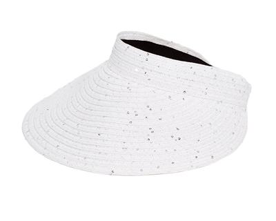 Sun Visor Hats Wholesale - Roll-Up Sequins Visor d1ab8fe0900