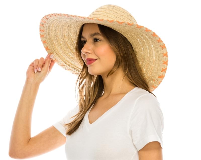 Floppy Straw Sun Hats Wholesale - Wide Brim Straw Beach Hats 6fac0aeb227