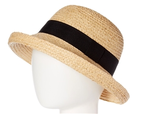 wholesale raffia straw hats - upturn brim beach hat