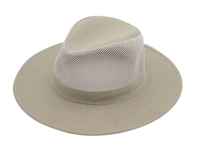 584af8ca544 Wholesale Mens Hats - Safari Hat with Mesh Crown