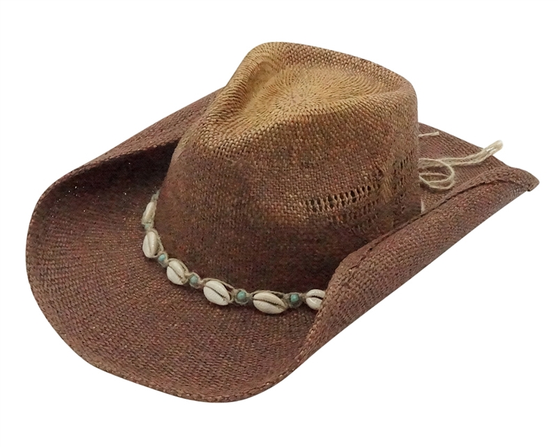 Wholesale Straw Cowgirl and Cowboy Hats - Shells and Beads 984dca59213