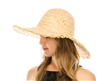 Wholesale Raffia Straw Sun Hats - Fringe Wide Brim Hat