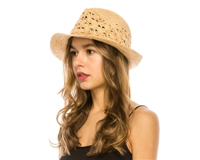 97ad5e336f33fa Wholesale Organic Raffia Straw Hats - Summer Fedoras