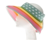 Sun Visors Wholesale - Roll-Up Visor Hat - Rainbow Clouds