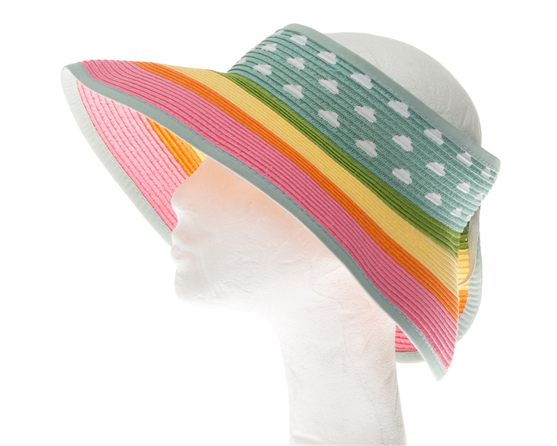 3ed3d8c0c59eca Sun Visors Wholesale - Roll-Up Visor Hat - Rainbow Clouds