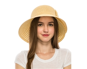 wholesale garden hats - lampshade sun hats - slanted bow ribbon hat - upf 50 hats wholesale