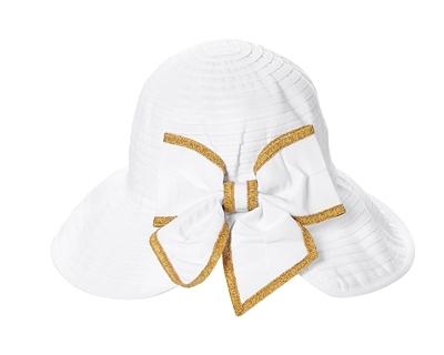 61a21c669 1743 Split Back Ribbon Sun Hat w/ Bow