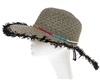Wholesale Floppy Fringe Hats - Wide Brim Womens Beach Hat w/ Beads