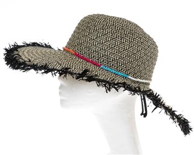 Wholesale Fringe Hats - Wide Brim Womens Beach Straw Sun Hat w  Beads 3ba11a45a0cb