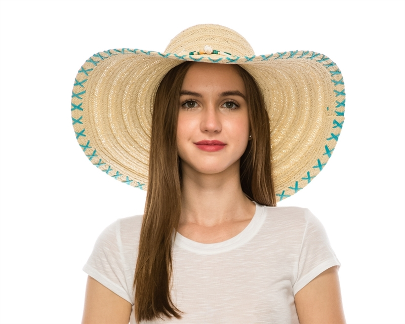 floppy straw sun hats wholesale wide brim beach hat 013390aec86