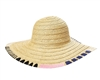 wholesale Whipstitch Edge Straw Sun Hat