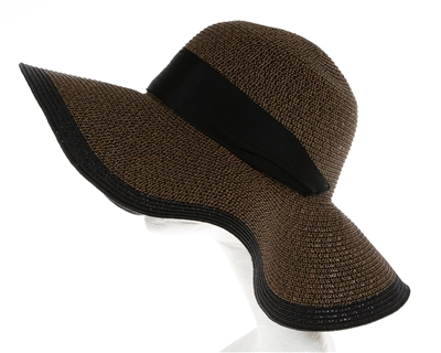 Wholesale Large Floppy Hats - Womens Tweed Straw Sun Hat