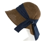 Wholesale Garden Hats UPF 50 Straw Sun Hat Denim Bow