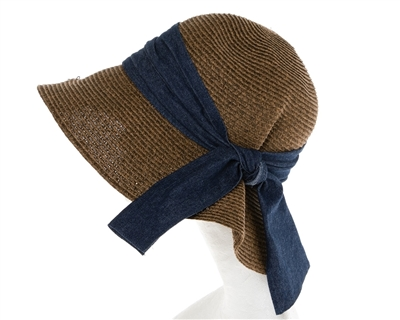 2dc721b042a Wholesale Garden Hats Sun Protection UPF 50 Straw Sun Hat Denim Bow