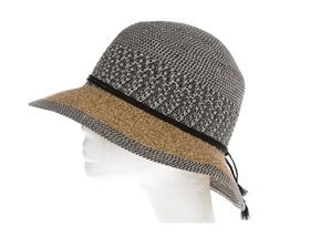 Wholesale Ladies Sun Hats Straw Bucket Hat Mixed Braid