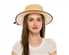 Wholesale Womens Boater Hats - Straw Skimmer Hat