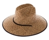 wholesale lifeguard hats rush straw womens mens upf hat