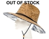 Wholesale lifeguard straw hats palm prints upf 50 sun protection