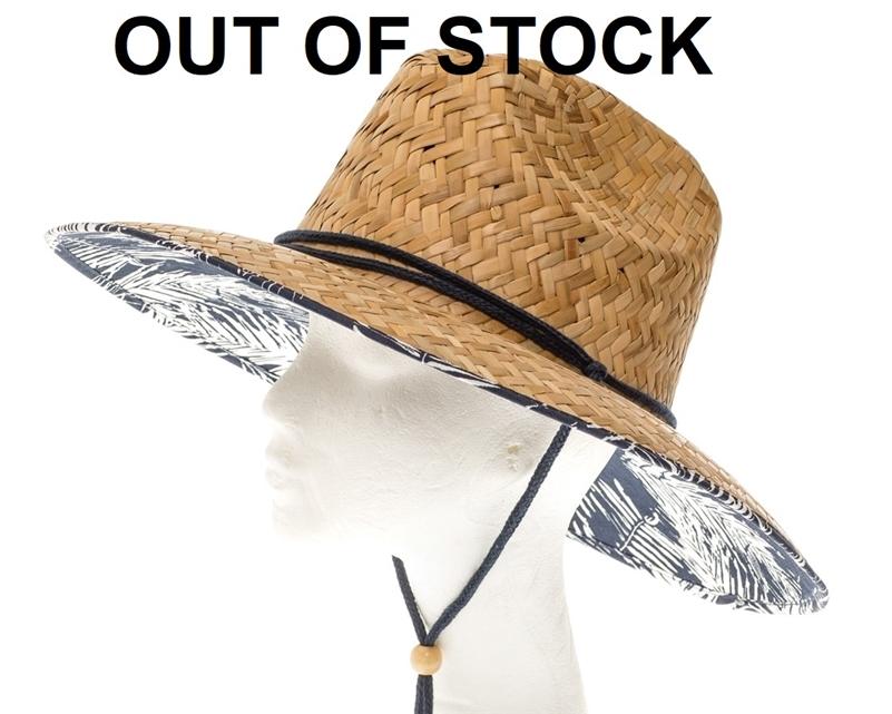 23e9b70ae34 Wholesale lifeguard straw hats palm prints upf 50 sun protection