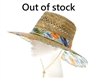 wholesale lifeguard hats - straw hat hawaii hibiscus flowers print