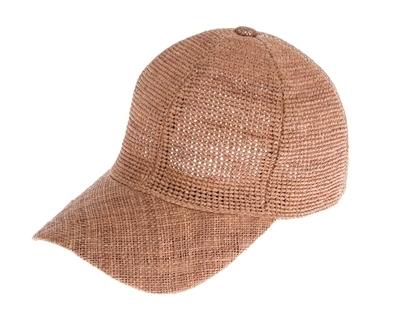 3b882d393 1775 Raffia Straw Baseball Cap - Fine Crochet