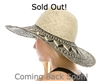 Wholesale 2-Tone Handwoven Pattern Sun Hat Womens Beach Hat