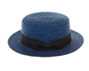 Wholesale Fine Straw Boater hat Womens Beach Hat