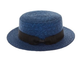 Wholesale Fine Straw Boater hat Womens Beach Straw Sun Hat