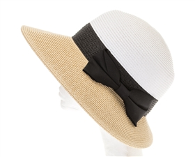 Wholesale Asymmetrical Colorblock Sun Hat Womens Beach Hat