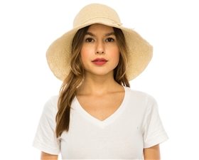 Wholesale Fine Crochet Straw Hats - Toyo Straw Sun Hat
