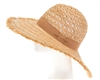 Wholesale Peekaboo Crown Raffia Sun Hat Womens Beach Straw Sun Hat