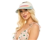 Wholesale Rainbow Stripe Straw Visor Womens Beach Hat