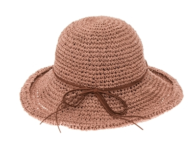 f3d6089c Wholesale Crochet Straw Toyo Upbrim Sun Hat Womens Beach Straw Sun Hat