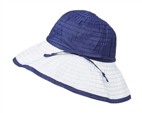 Wholesale Convertible Ribbon Sun Hat Womens Beach Hat