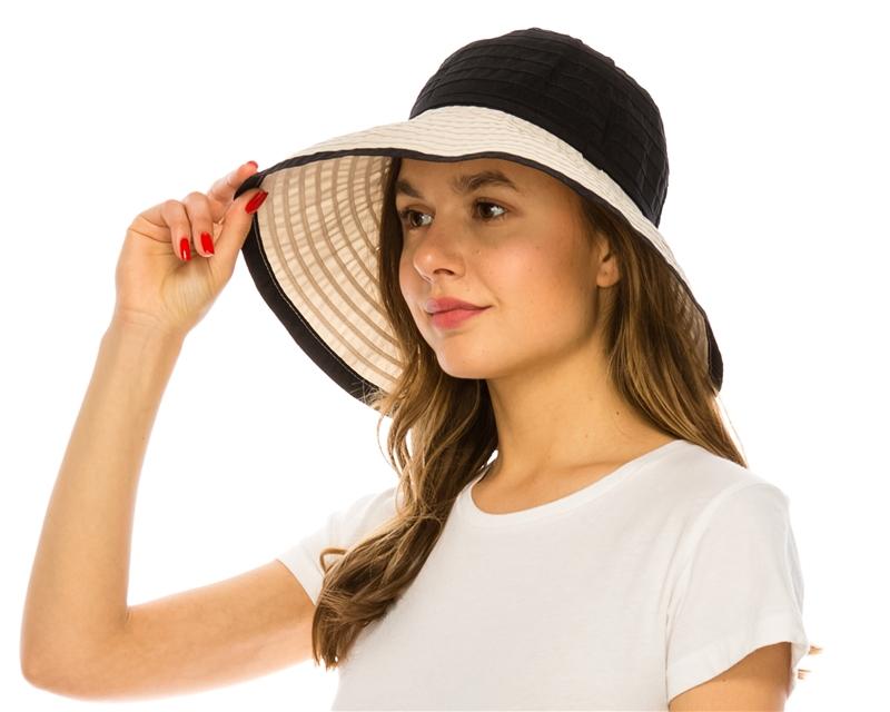 bbe55eeaf9176 Wholesale Convertible Ribbon Sun Hat Womens Beach Straw Sun Hat